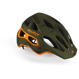 Rudy Project Protera Kask rowerowy, green camo/orange